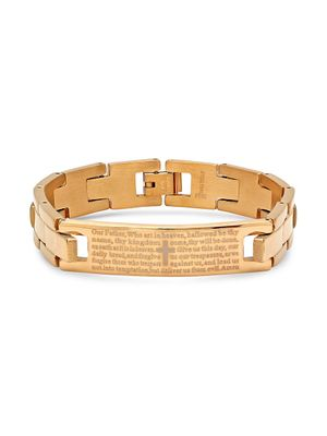 Anthony Jacobs 18K Goldplated & Stainless Steel Our Father Bracelet