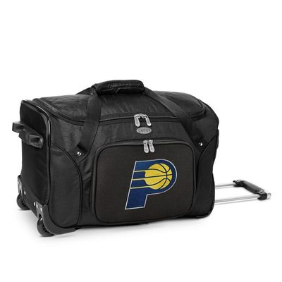 Indiana Pacers 22In 2-Wheeled Duffel Bag - Black