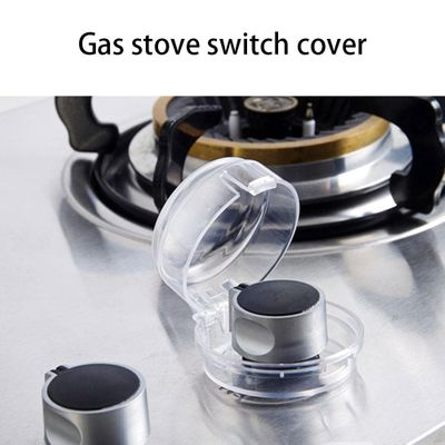 6PCS Kitchen Cooker Gas Oven Stove Knob Cover Oil Dust Dirt Protection Child Safegaurd Lock Children Safety