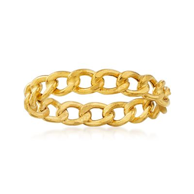 Ross-Simons Italian 14kt Yellow Gold Curb-Link Ring