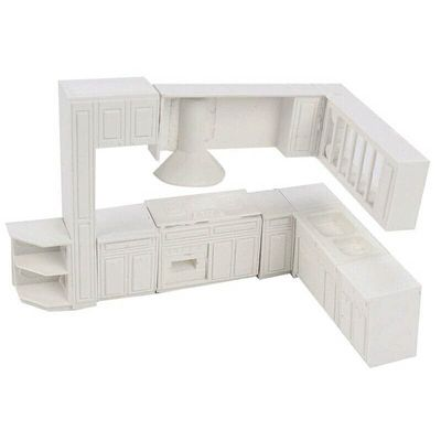 WOTT Doll house Miniature toy house cabinet kitchen furniture molds home decor kit