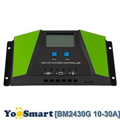PWM Solar Charge Controller 10A 20A 30A 12V 24V Auto With LCD Display USB Output Solar Cell Panel Regulator PV Home Solar System(30A)