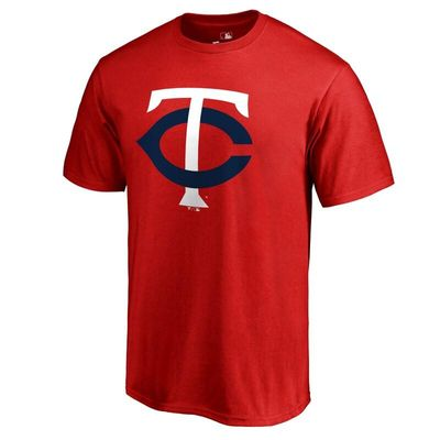 Minnesota Twins Secondary Color Primary Logo T-Shirt - Red