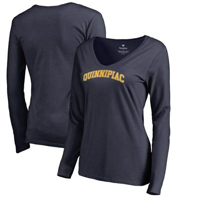 Quinnipiac Bobcats Women's Everyday Long Sleeve T-Shirt - Navy
