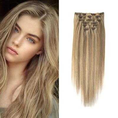 Neitsi Double Drawn Remy Ombre Clip In On Human Hair Extensions 20