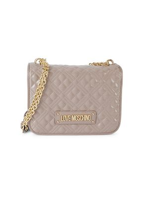 Love Moschino Mini Quilted Faux Leather Crossbody Bag