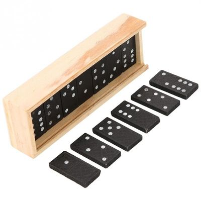 28Pcs/Set Wooden Domino Board Games For Children Travel Funny Table Game Domino Toys Kid Gifts Children Educational Toys