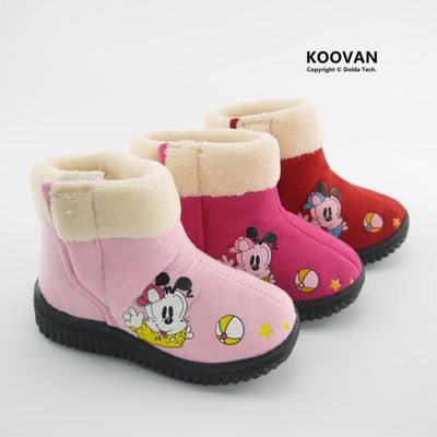 Koovan Children Boots 2020 New Style Child Girl Princess Warm Snow Boots Dog Medium Cotton-padded Shoes Kids Children Shoes