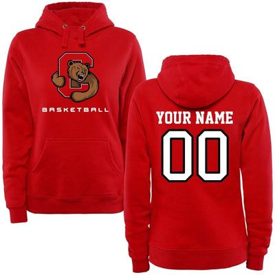 Cornell Big Red Women's Personalized Basketball Pullover Hoodie - Red