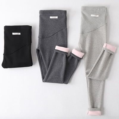 Winter Velvet Pants For Pregnant Women Maternity Leggings Warm Clothes Thickening Pregnancy Trousers
