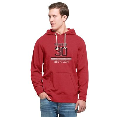 Martin Brodeur New Jersey Devils '47 Commemorative Slugger Pullover Hoodie - Red