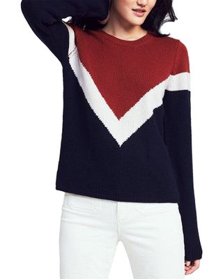 Faherty Carrigan Wool & Cashmere-Blend Varsity Sweater