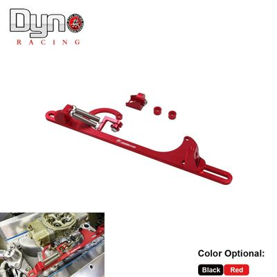 Dyno racing- 4150 4160  Aluminum Series Black Red Billet Throttle Cable Carb Bracket RS-BT001