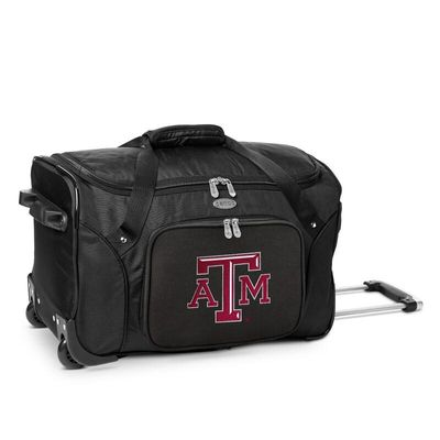 Texas A&M Aggies 22In 2-Wheeled Duffel Bag - Black