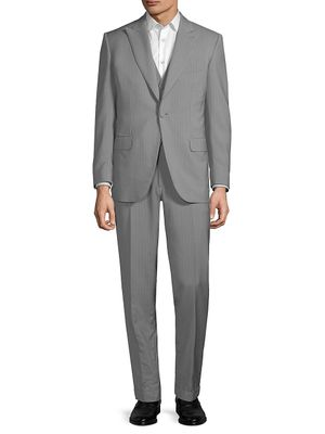 Brioni Wool & Mohair Striped Suit