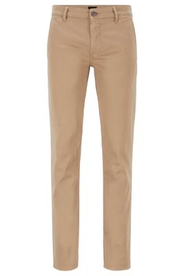 HUGO BOSS - Slim Fit Casual Chinos In Brushed Stretch Cotton