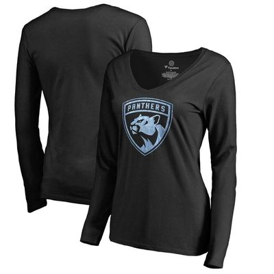 Florida Panthers Women's Pond Hockey Long Sleeve T-Shirt - Black