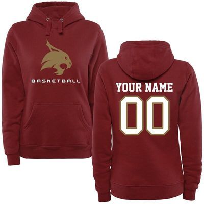 Texas State Bobcats Women's Personalized Basketball Pullover Hoodie - Maroon