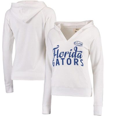 Florida Gators Pressbox Women's Laurie V-Neck Hoodie - White