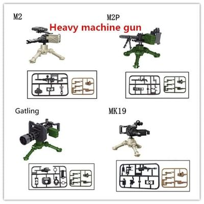 Military building blocks War games heavy machine gun weapon accessories blocks compatible with Legoe for gift