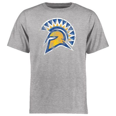 San Jose State Spartans Big & Tall Classic Primary T-Shirt - Ash