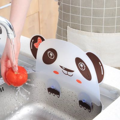 Water Baffle Plate Creative Specialty Tools Water Splatter Screens Plates Panda Modeling Pool Flap Retaining Plate Kitchen Tools
