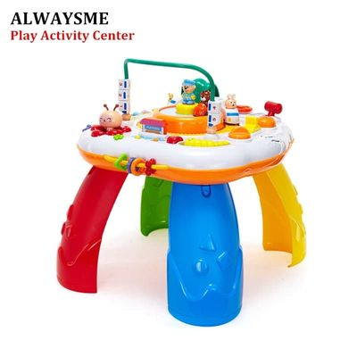 ALWAYSME Learning And Groove Musical Table Activity Center Musical Educational Discovering Toys Sit And Stand And Play Activity