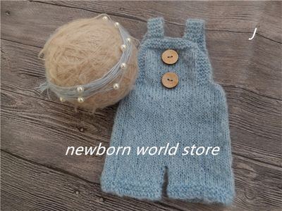 newborn photography props headband and mohair pants