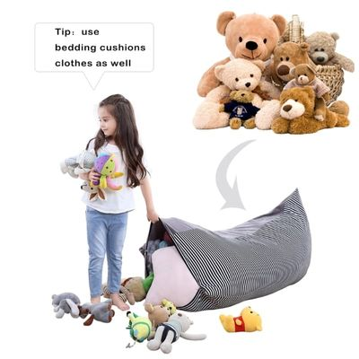 1 Pc Stuffed Animal Storage Bean Bag Chair Baby Kid Toy Sofa Clothes Organizer For Baby High Quality-m15