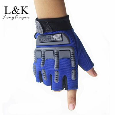 5-13 Years Kids Army Tactical Fingerless Gloves Men Anti-Skid Half Finger Military Shooting Mittens Male Fighting Combat Glove