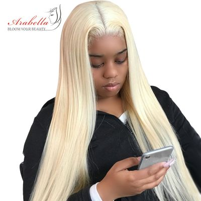 613 Lace Front Wig Brazilian 13x4 Straight Remy Hair Wigs Arabella 613 Frontal Wig Bob 180% Density Blonde Lace Front Wig Bob
