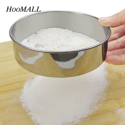 0.28mm Mesh 15cm Dia Stainless Steel Flour Sifter Pastry Icing Sugar Shaker Sieve Cup Baking Tool