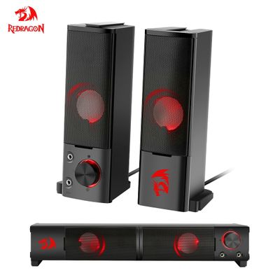 Redragon GS550 aux 3.5mm stereo surround music smart speakers column sound bar for the computer PC home notebook TV loudspeakers