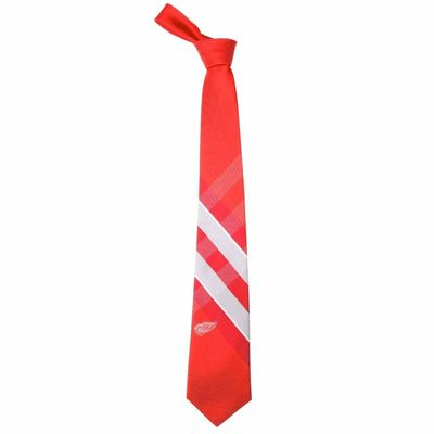 Detroit Red Wings Woven Poly Grid Tie