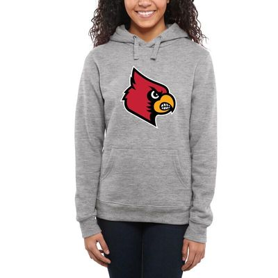 Louisville Cardinals Women's Classic Primary Pullover Hoodie - Ash -