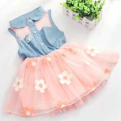 Girls' Dresses 2018 New Summer Wear 3-6-12 Months Baby Clothes 1-2-3 Year Old Baby Cotton Striped Dresses Tide