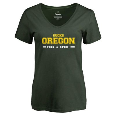 Oregon Ducks Women's Custom Sport V-Neck T-Shirt - Green