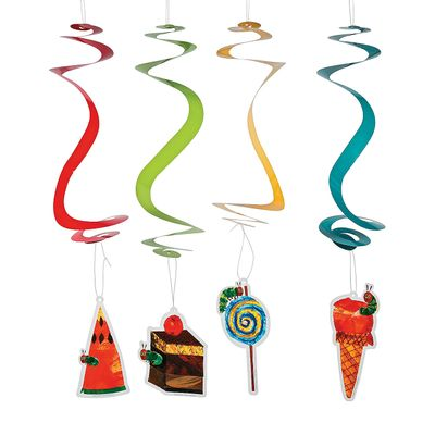 Very Hungry Caterpillar Hanging Swirls - Party Decor - 12 Pieces