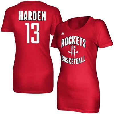 James Harden Houston Rockets adidas Women's Name and Number T-Shirt - Red