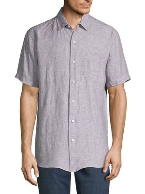 Saks Fifth Avenue Classic Linen Button-Down Shirt