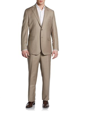 Saks Fifth Avenue Classic-Fit Wool & Silk Two-Button Suit