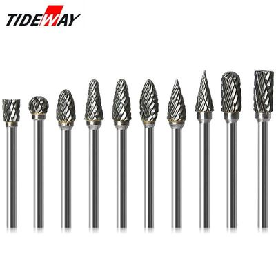 1/8 Tungsten Carbide 3x6mm Drill Bits Rotary Burrs Metal Diamond Grinding Woodworking Milling Cutters For Drill Bits
