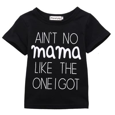 Pudcoco Cute Baby Boys Girls Summer With Letter Short Sleeve O Neck Cotton T-shirt 0-24m