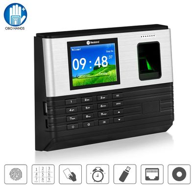 TCP/IP/Wifi 2.8inch Biometric Fingerprint Time Attendance Machine RFID Card Finger print Time Recorder System, Support Battery