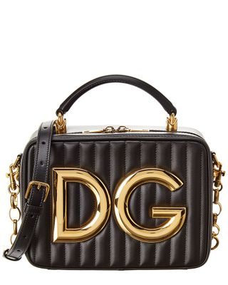 Dolce & Gabbana Logo Plaque Leather Crossbody