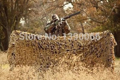 1.5X4M Double Layer Military Desert Camouflage Net 210D Oxford Cloth Sun Shade Camo Netting for Hunting Camping Decoration