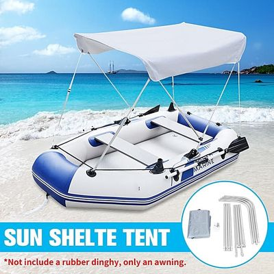 Top Boat Cover Canopy 2 Bow Bimini 1000D Oxford 63*47.2*43.3'' Rear Support Pole