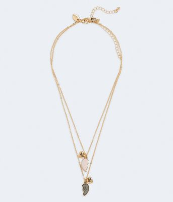 Aeropostale Best Friends Heart Necklace 2-Pack