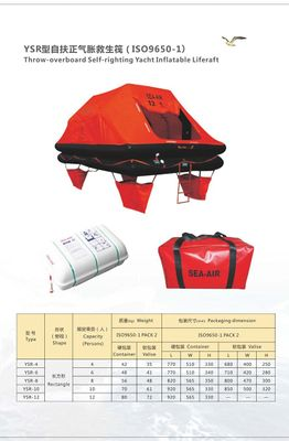 throw -over board self righting yacht inflatable liferaft for 4 persons