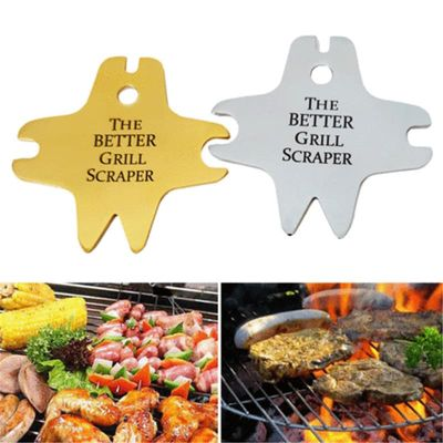 2019 New Kitchen Tool Stainless Steel BBQ Grill Cleaning Scraper Barbecue Cleaner Scraper Tool